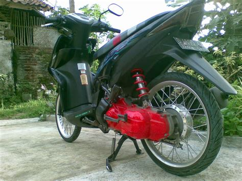 Modif Mio Sporty Velg 17 by Motor Rakitan Modifikasi Beat Velg Lebar