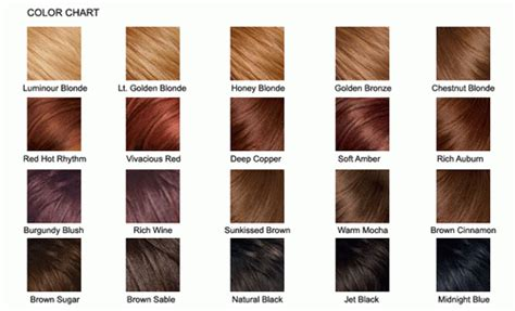 Brown Hair Color Chart 2013