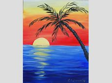 Tropical Sunset Painting Party Thursday Nov 10th 630pm