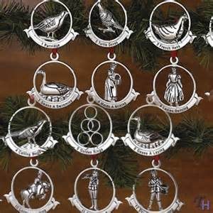 12 days of christmas ornaments by godinger