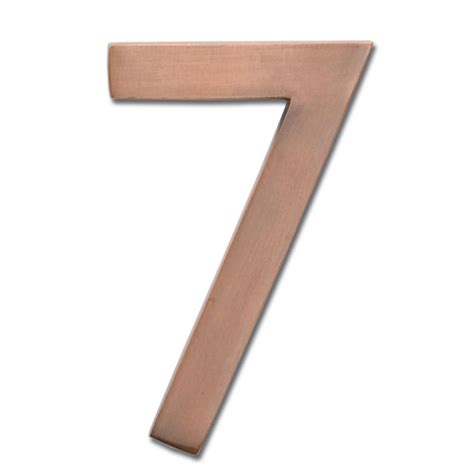 wooden numbers home depot architectural mailboxes 4 in dark aged copper floating house number 4 3582dc 4 the home depot