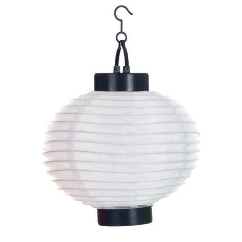 Pure Garden 4-Light White Outdoor LED Solar Chinese