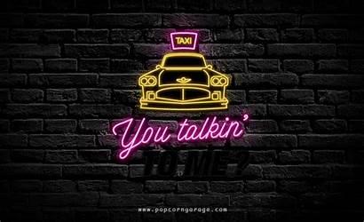 Neon Gifs Cinema Frases Garage Taxi Transformadas