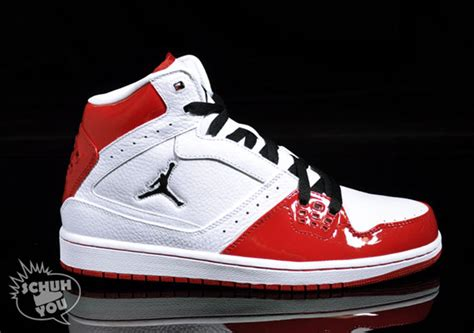 air jordan  flight mid white red july