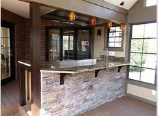 stacked stone veneer bar front Design Pinterest