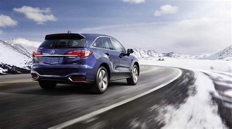 acura rdx blue pearl color snow mountains hd