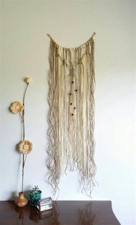 woven wall tapestry yarn wall hanging macrame curtain fiber by