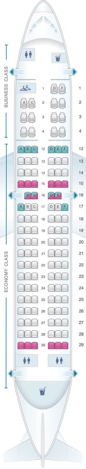 plan siege air plan de cabine air canada airbus a319 100 config 1