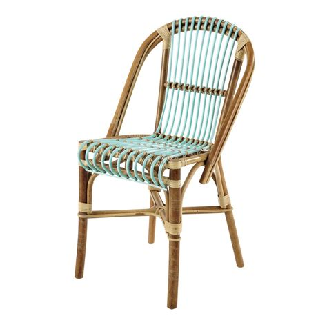 chaise en rotin but rattan vintage chair in sea green florida maisons du monde