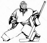 Hockey Goalie Drawing Getdrawings sketch template