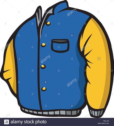 cartoon vector illustration   blue jacket stock vector