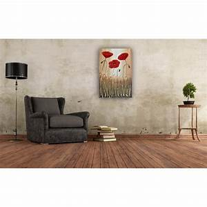 poppy trio original painting by amanda dagg With enduit a la chaux mur interieur