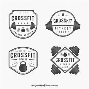 Pack of crossfit stickers in vintage style Vector   Free ...