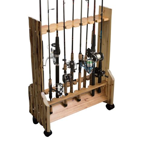 fishing pole storage rack 16 fishing rod sided rolling rack 187 creek