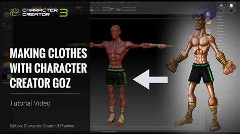 character creator  tutorial making clothes  cc goz