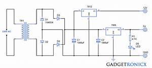 12v  U0026 5v Dual Power Supply Circuit