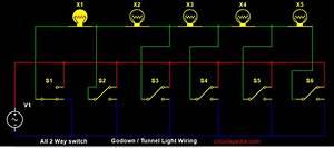 Godown Wiring Tunnel Wiring  Light Switch Wiring  2 Way