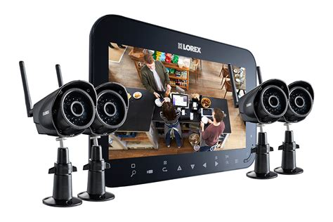 home security system wireless home security system with 4 wireless cameras and