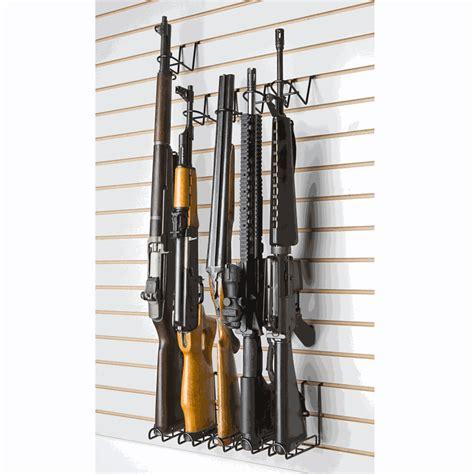 vertical gun rack vertical peg slat wall rifle display rack 2 set sku
