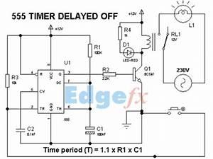 555 Timer Delay Off Circuit Diagram