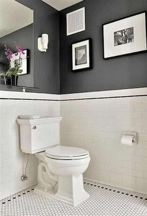 White And Black Tiles For Bathroom by 49 Simply Black And White Tile Bathroom Decor Ideas