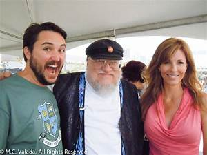 Will and Anne Wheaton hanging out with George R. R. Martin ...