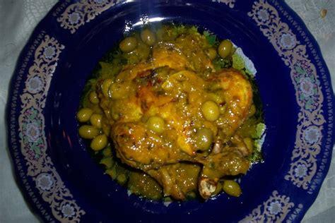recette de poulet aux olives  citron confit