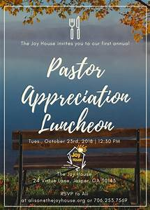 Business Luncheon Invitation Wording Pastor Appreciation Luncheon The Joy House
