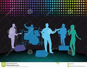 Rock Band On Stage Stock Vector - Image: 45291507
