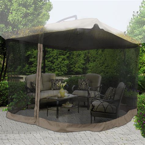 Offset Patio Umbrella With Mosquito Net by 9 X9 Mosquito Netting Bug Mesh Net For Outdoor Patio