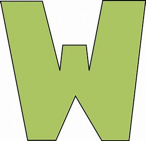 green letter w clip art green letter w image With w letter art