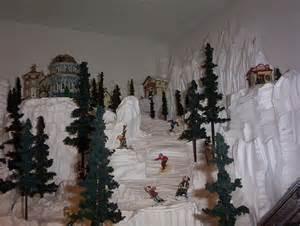 Styrofoam Christmas Village Displays