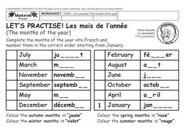 french health body y3 y4 the months of the year celebrating a birthday by