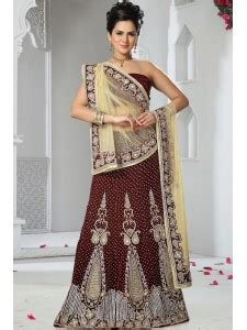 purchase online floral embroidered net saree by meena bazaar 538374