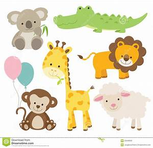 Baby Shower Jungle Animals Clipart - ClipartXtras