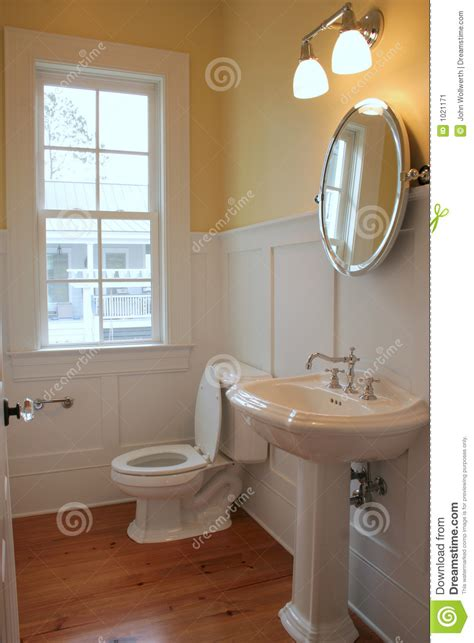 simple bathroom stock image image  plumbing home