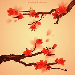 Japanese flowers Vector | Free Download