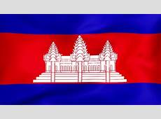 Flag Of Cambodia Royaltyfree video and stock footage