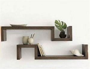 Wooden decorative wall shelves the interior design for Decorative wooden letters for shelves