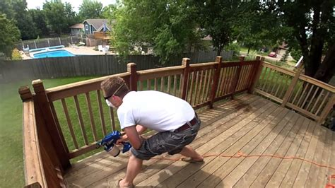 Restain Deck Same Color by Staining A Deck Roll Vs Brush Vs Spray