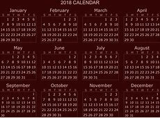 Download 2018 calendar 2018 Calendar printable for Free