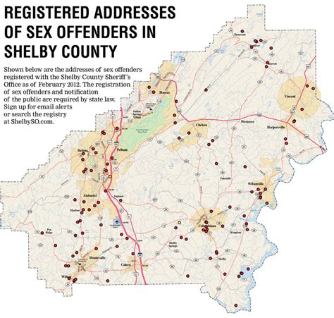 find offenders map free list of known offenders addresses shelby county