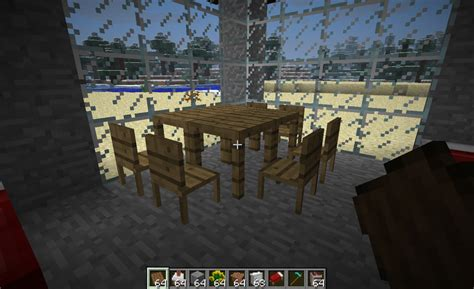table and chair in minecraft by gunnarcool on deviantart