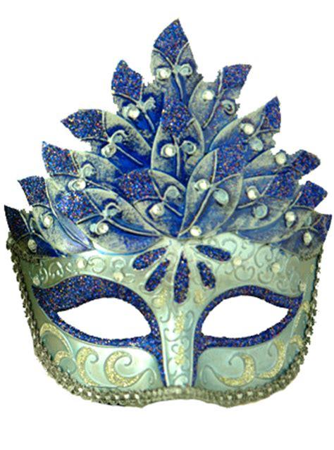 colombina leaf venetian mask blue purecostumescom