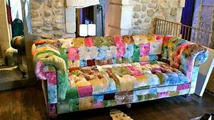 photos canape chesterfield tissu patchwork With canapé convertible fly avec tapis patchwork