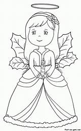 Coloring Angel Guardian Male Popular sketch template