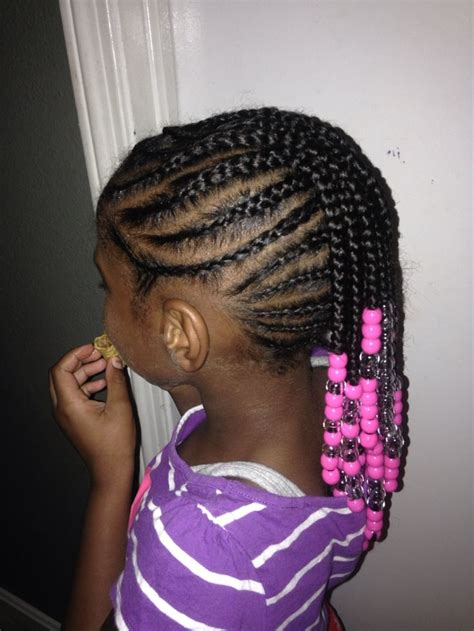 braided mohawk side view natural hair beads