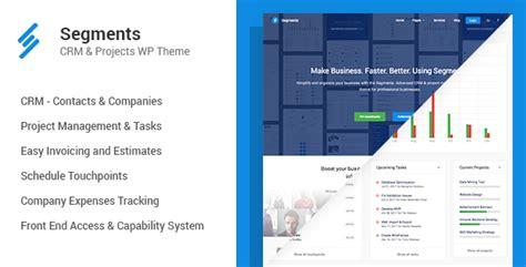 segments crm project management wordpress theme