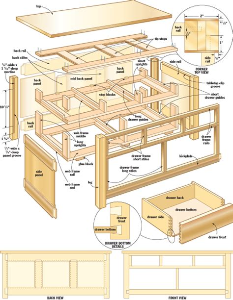 mission coffee table woodworking plans woodshop plans