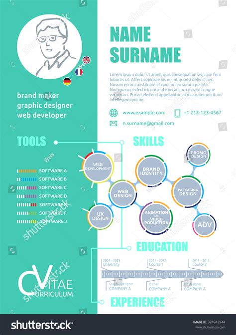 resume cv template pages infographic resume cv template